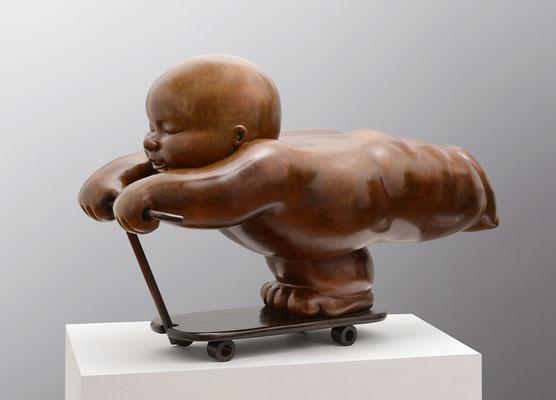 El patín                 -                bronce            -                    60x96x42 cm.