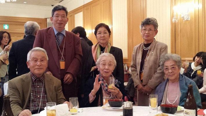 2014.10 新老人の会SSAで日野原重明先生103歳誕生パーティ。