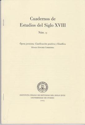 Cuadernos de Estudios del Siglo XVIII, Universidad de Oviedo