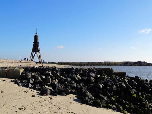Die Kugelbake ist das Wahrzeichen der Stadt Cuxhaven