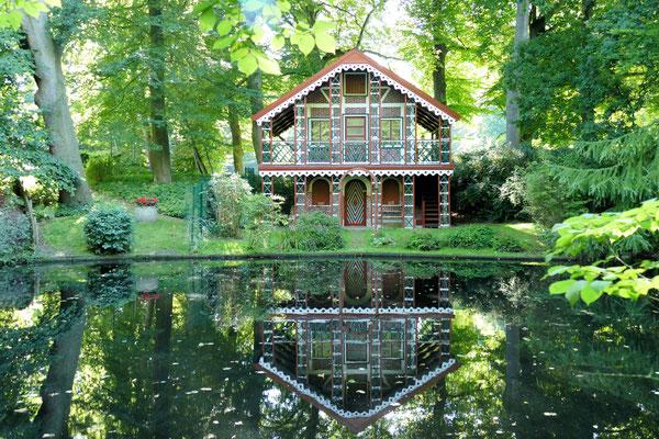 Das Schweizerhaus, gebaut 1847. Das Teehaus wurde für die Amtmänner und deren Familien als Ruheort gebaut