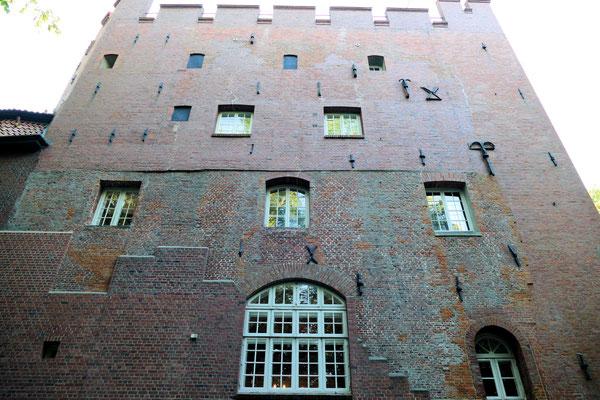 Das Mauerwerk am Schloss Ritzebüttel