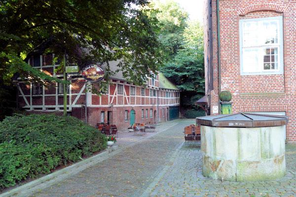 Der Brunnen am Schloss Ritzebüttel in Cuxhaven