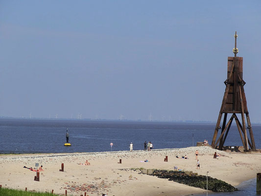 Der Strand an der Kugelbake in Döse