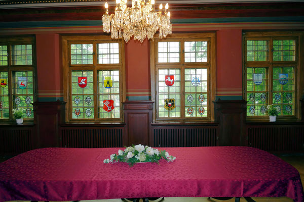 Der Speisesaal im Schloss Ritzebüttel