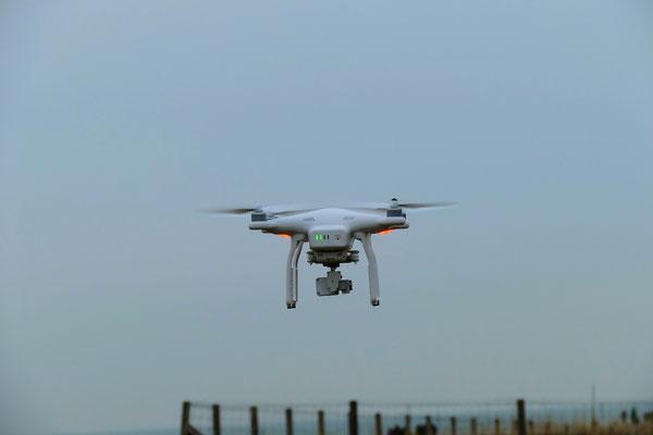 Drohne über Cuxhaven für Luftaufnahmen