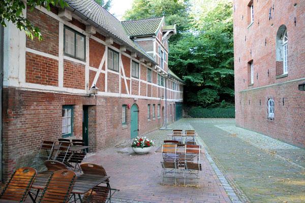 Außenbereich des Schloss Restaurants in Cuxhaven