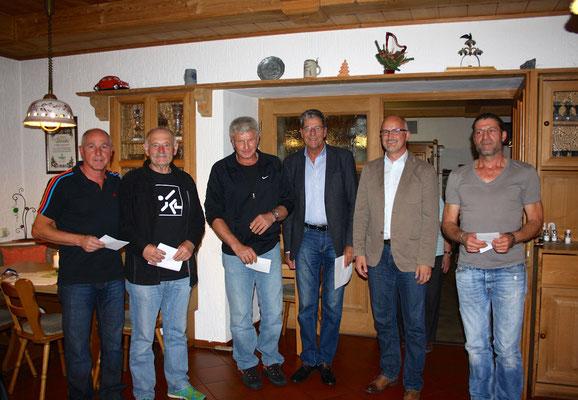 Landesliga-Aufsteiger Sommer 2015: Kobler, Ludwig, Weber, Maurer