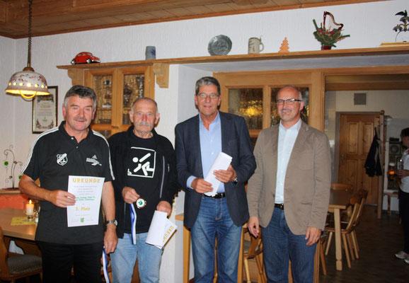 3. Platz im Mannschaftswettbewerb: Filmann, Ludwig, Maier, (Meyer), Schinkinger