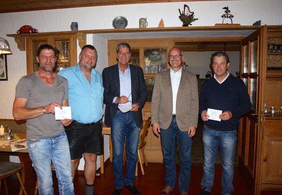 Kreisliga-Aufsteiger Winter 2015: Maurer, Löcker, Hain, Weiß