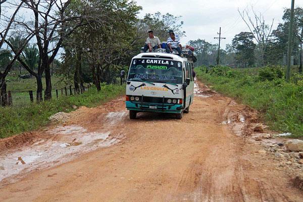 Straße in Guatemala.