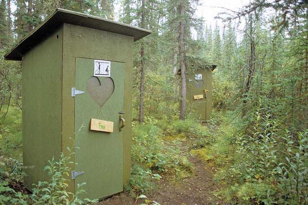 Auf dem Campground am Yukon.