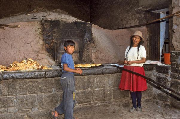 Bäckerei auf dem Land bei Cusco