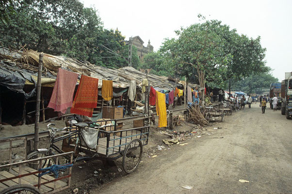 In den Slums von Kalkutta.