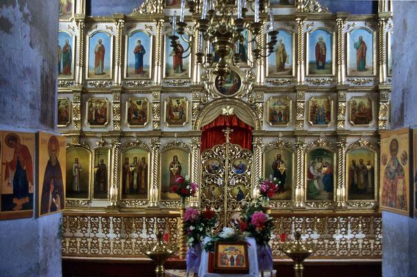 Ikonostase in einer Kirche von Kosmodenjansk