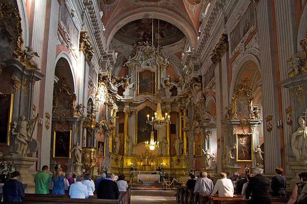 Gottesdienst in der Theresienkirche in Vilnius.
