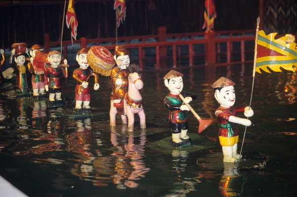 Traditionelles Wasserpuppentheater in Hanoi.