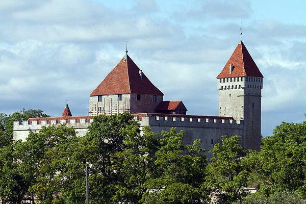 Die Arensburg von Kuressaare auf der Insel Saaremaa, der mit etwa 2.672 km² größten Insel Estlands.