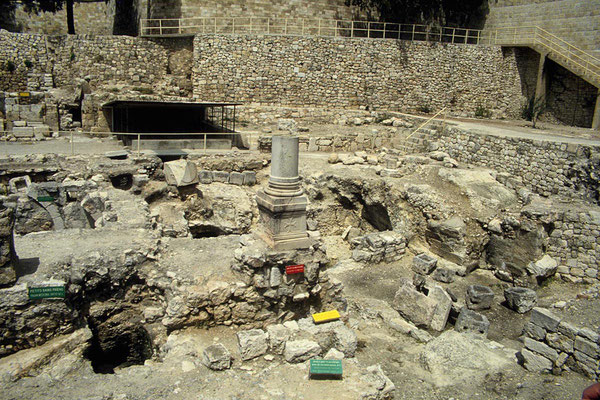 Ausgrabungen in der Altstadt von Jerusalem.