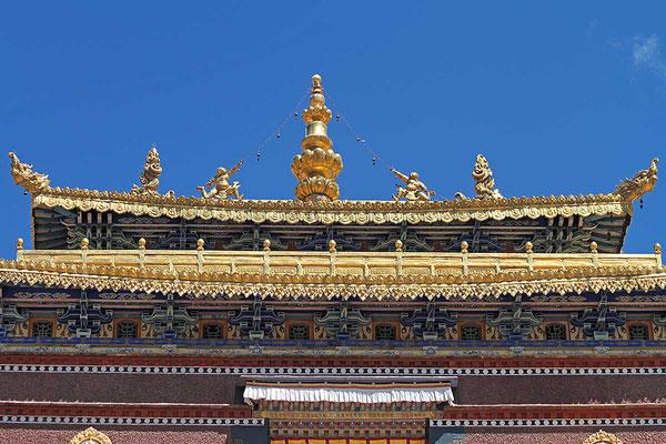 Kloster Tashilhunpo in Shigatse, die Residenz des Panchen Lama. Shigatse liegt mehr als 4000 m hoch.