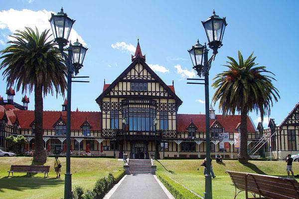 Ehemaliges Badehaus - heute Museum von Rotorua.