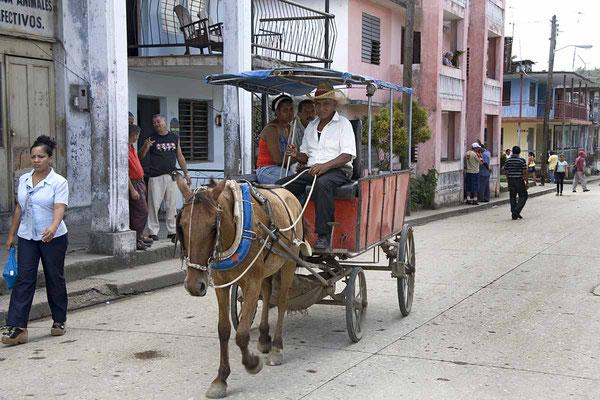 Die Pferdekutsche ist in Kuba ein allseits beliebtes Verkehrsmittel.