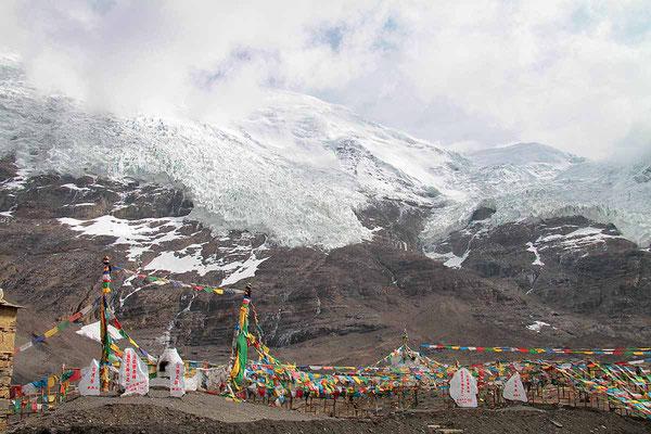 Karo -La, ein Pass von über 5000 m Höhe auf dem Weg von Gyantse nach Lhasa.