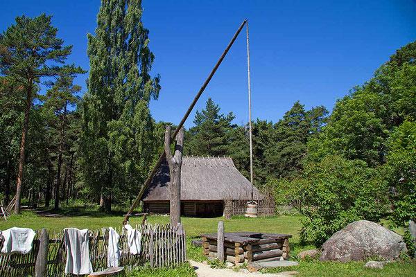 Ländliche Idylle in Rocca al Maare, einem Museumsdorf bei Tallinn / Estland.