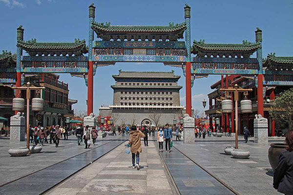 """Zugang zum """"Platz des Himmlischen Friedens"""" in Peking."""
