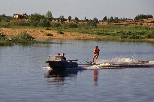 Wassersport auf der Wolga.