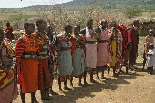 Besuch in einem Massai-Dorf