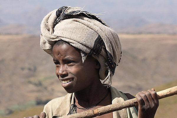 Jeder Äthiopier braucht einen Stock.