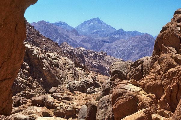Blick auf den Djebel - Catherin, mit 2642 m Ägyptens höchster Berg.
