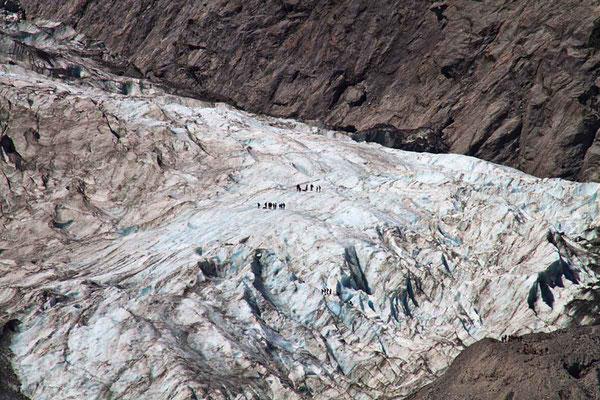 Blick auf den gewaltigen Franz - Josef - Gletscher.