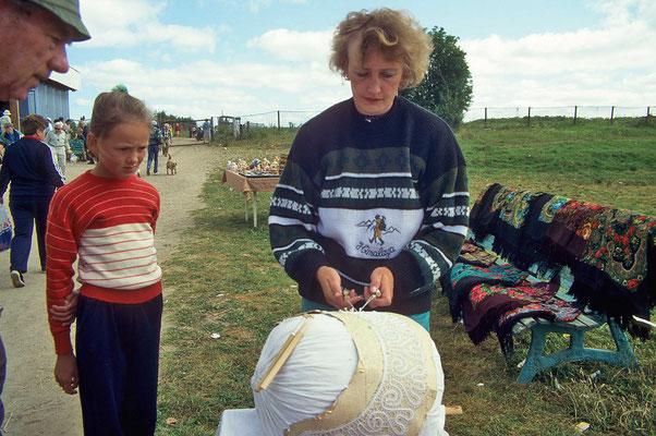 Das Klöppeln ist in Russland  noch eine weit verbreitete Handarbeit.