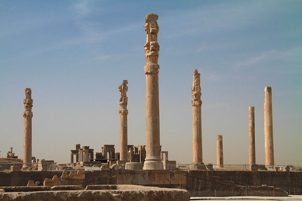 Die altpersische Residenzstadt Persepolis war vor 2500 Jahren die Hauptstadt des antiken Perserreiches.