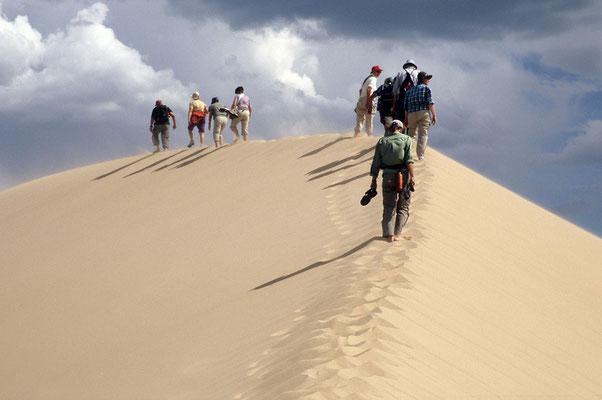 Auf den Dünen der Kongorin Els in der Wüste Gobi.