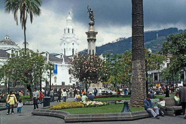 Ecuador, Zentrum der Hauptstadt Quito.