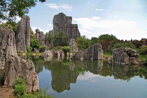 Steinwald beim Kunming, ein weltweit einzigartiges Naturwunder. Karstformationen, welche ca. 30 Mio. Jahre alt sind.