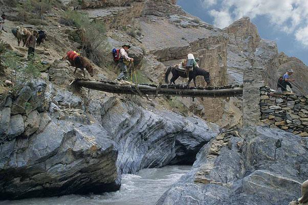 Anfangs erfordert es schon etwas Mut über solche Brücken zu gehen.