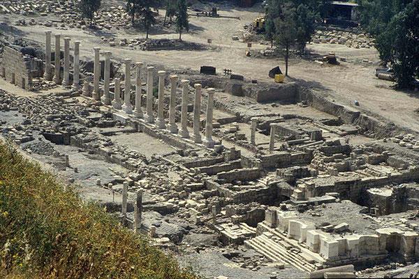 Zur Blütezeit um 750 v. Chr. war Bet Shean eine florierende große Römerstadt.