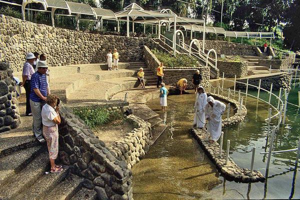 Der Ort Yardenit erhebt den Anspruch die Taufstelle Jesu zu sein und ist auch ein Touristenmagnet.