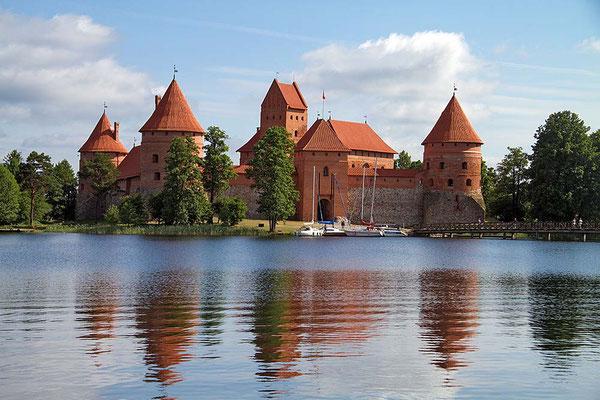 Die mittelalterliche Wasserburg von Trakei/Litauen.