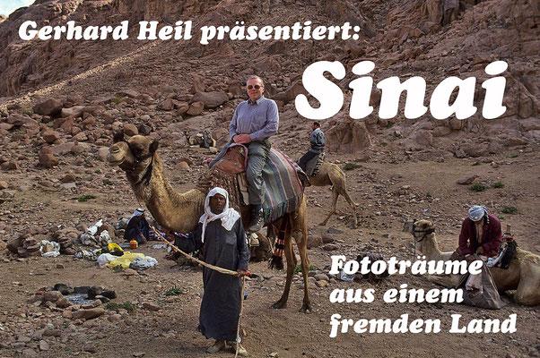 Mit den Beduinen unterwegs in der wild zerklüfteten Bergwelt des Sinai - allerdings zu Fuß.