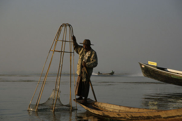 Fischer auf dem Inle-See.