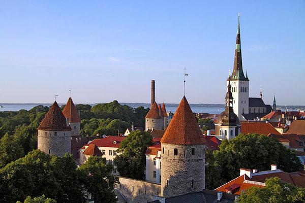 Blick auf den historischen Teil von Tallinn, der Hauptstadt Estlands.