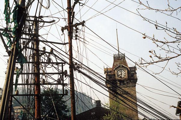 Elektrische Stromversorgung in Darjeeling.