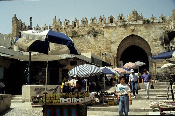 Eines der markantesten Stadttore von Jerusalem ist das Damaskus-Tor.