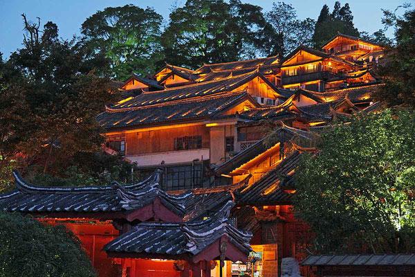 Abendliche Stimmung in Lijiang.
