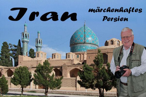 Das Mausoleum von Shah Nematholla Vali bei Mahan ist eine sehr schöne Anlage mit einer leuchtenden, türkisfarbenen Kuppel und schönen Minaretts.